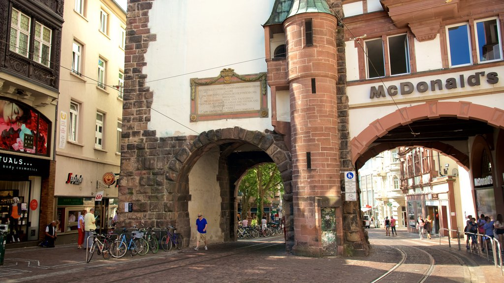 Martinstor Gate featuring a small town or village and street scenes