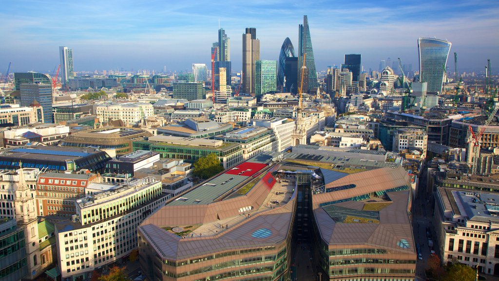 The City of London featuring central business district and a city