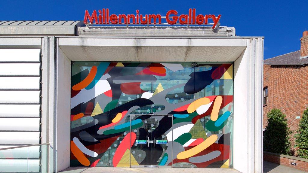 Millennium Gallery showing signage
