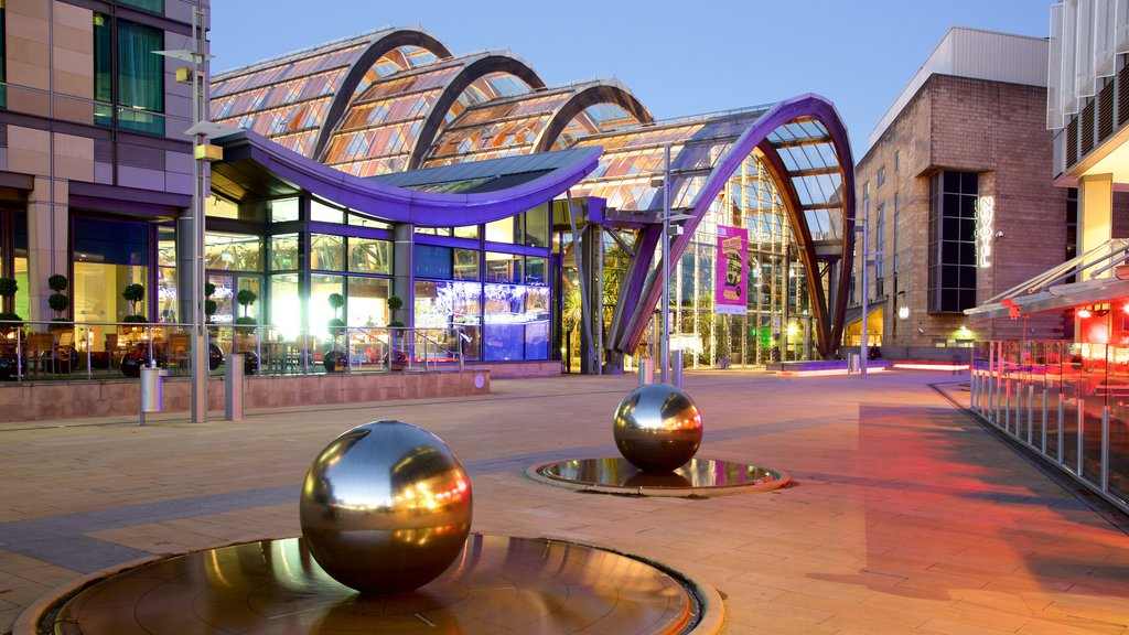 Sheffield Winter Garden featuring outdoor art and modern architecture