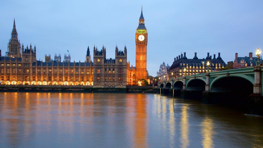 国会議事堂 フィーチャー 夜景, 河あるいは小川 と 橋