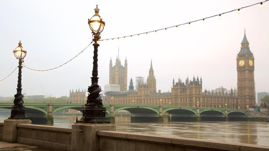 国会議事堂 表示 遺跡, 河あるいは小川 と 城