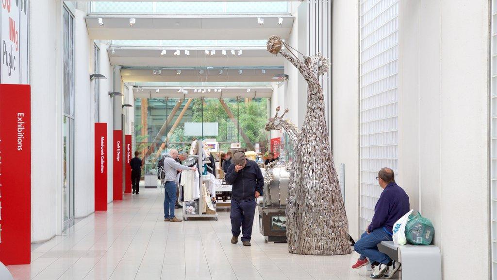 Millennium Gallery featuring interior views and art