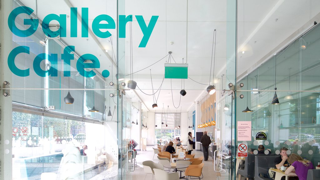 Millennium Gallery which includes cafe lifestyle, signage and interior views