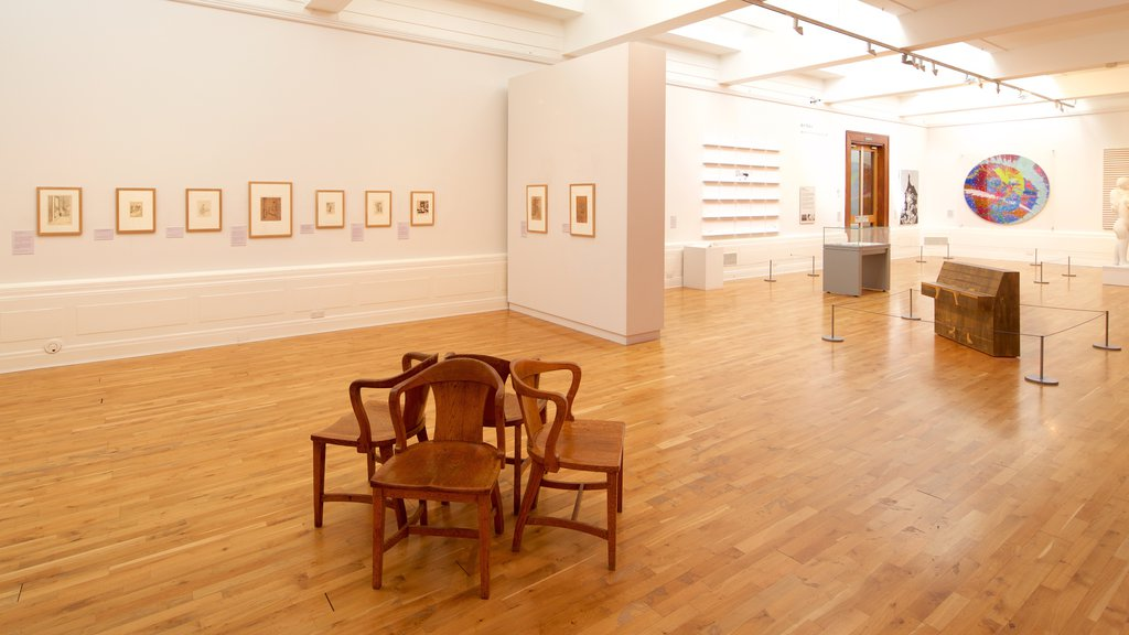 Graves Art Gallery showing interior views and art