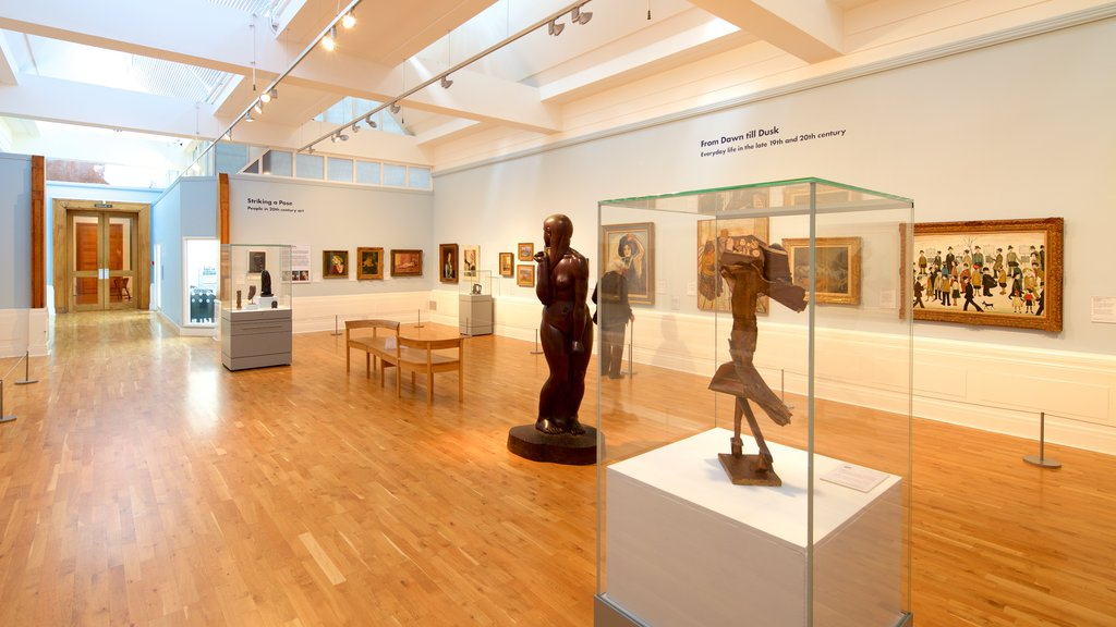 Graves Art Gallery featuring a statue or sculpture, art and interior views