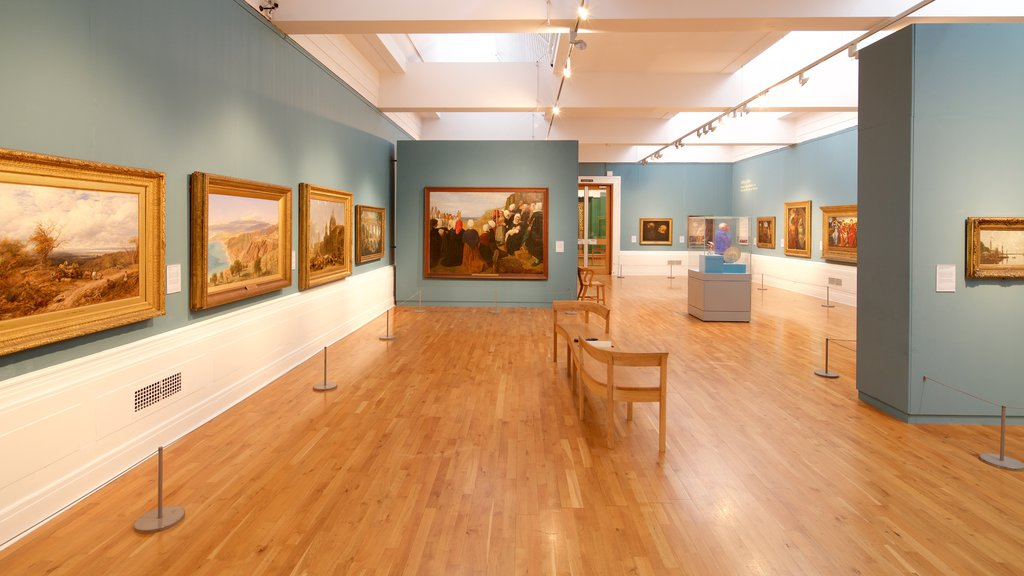 Graves Art Gallery featuring interior views and art