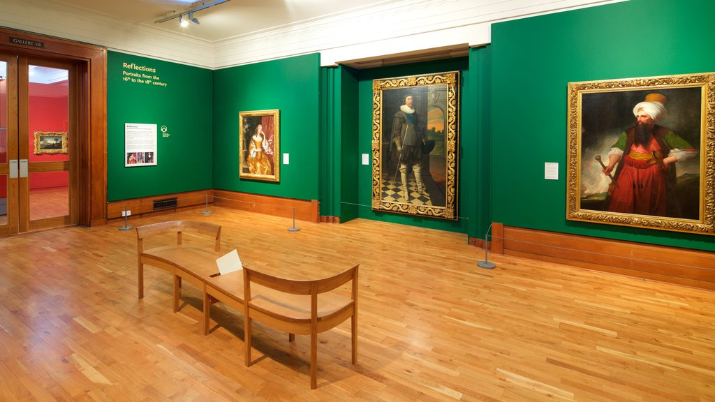 Graves Art Gallery featuring art and interior views