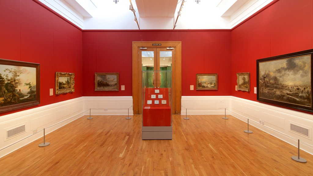 Graves Art Gallery which includes interior views and art