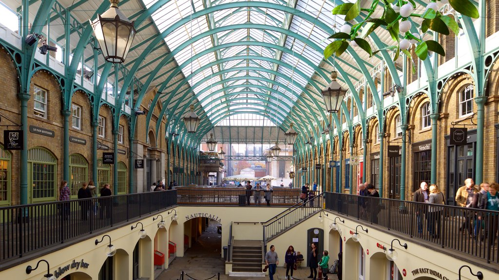 London showing markets, heritage elements and interior views
