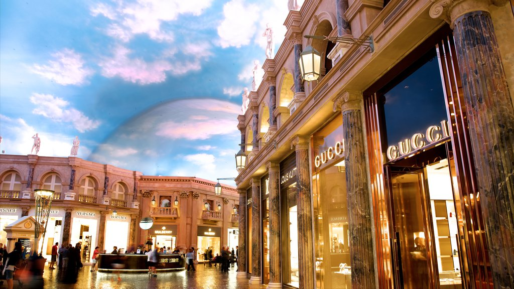 Las Vegas which includes shopping and interior views