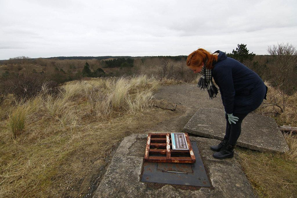 Bovenop de heuvel vinden we een schuilplaats voor vleermuizen