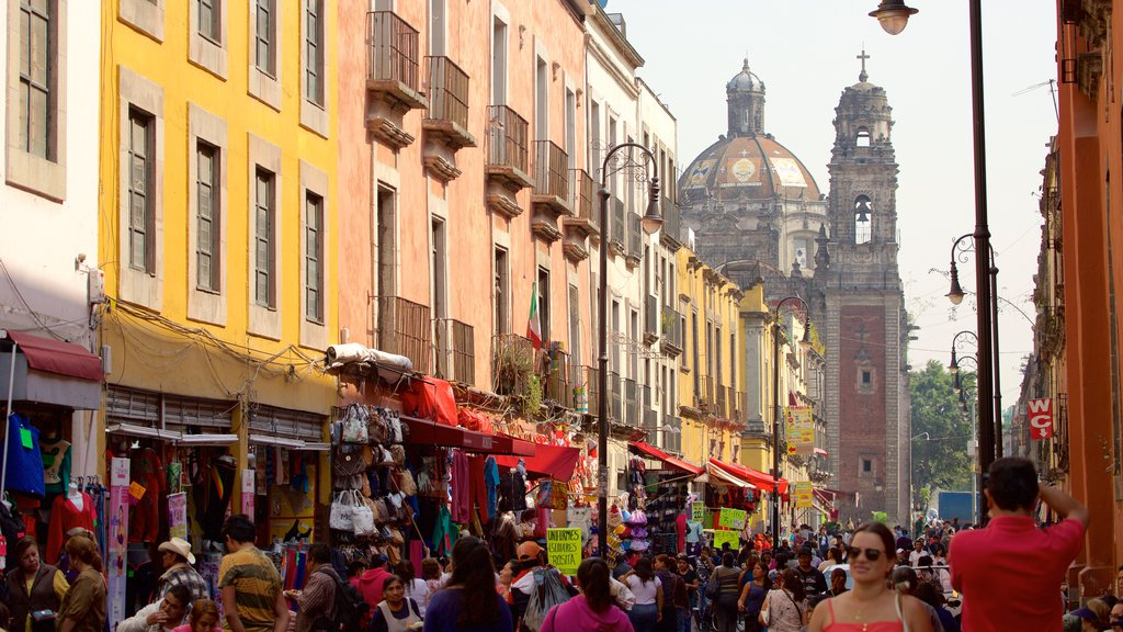 Downtown Mexico City which includes markets, a city and cbd