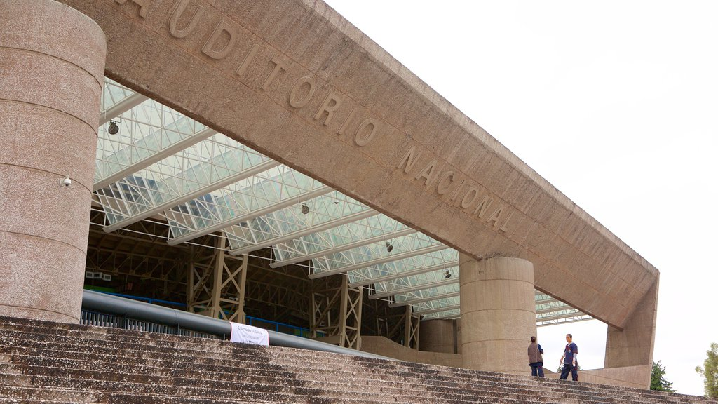 Auditorio Nacional showing modern architecture and theater scenes