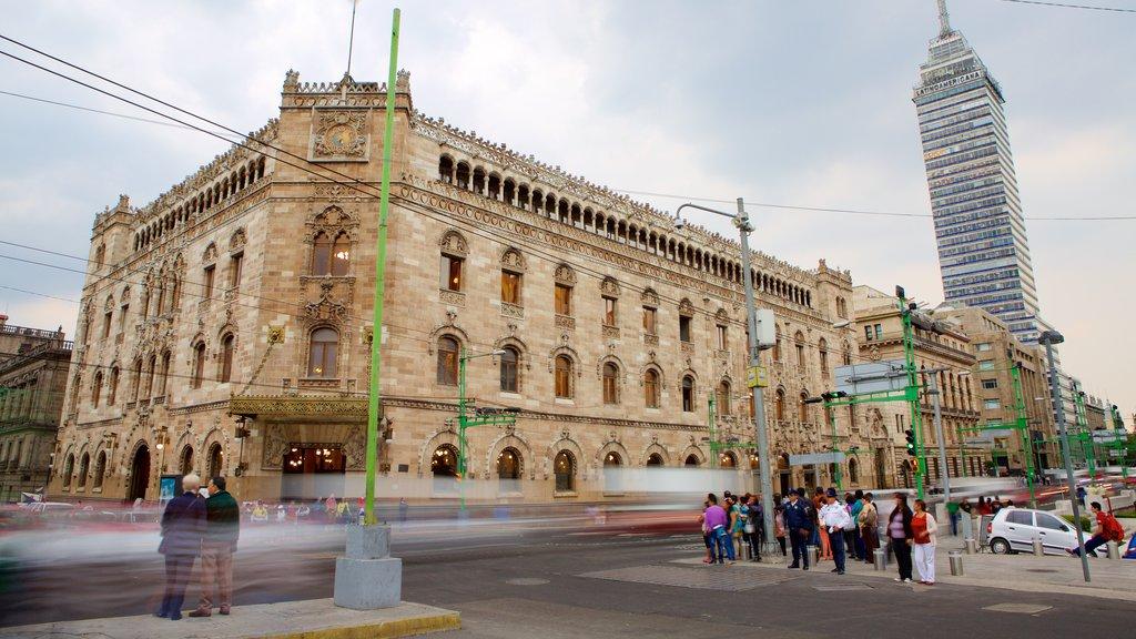 Palacio de Bellas Artes mostrando patrimonio de arquitectura, una ciudad y escenas urbanas