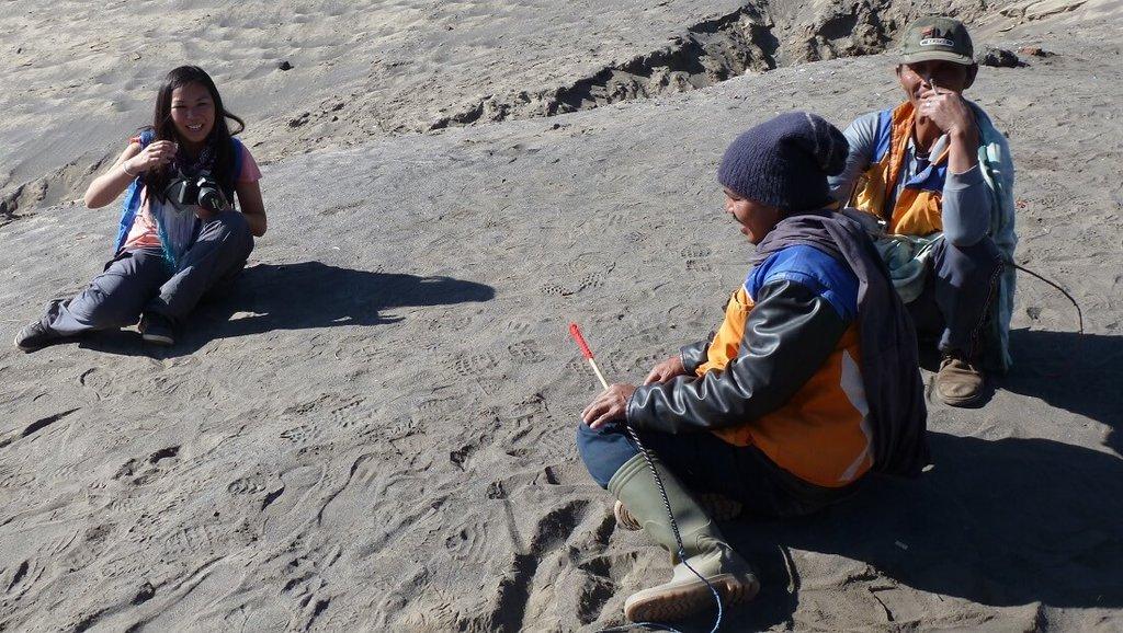 Foto's nemen bij de Rinjani Vulkaan