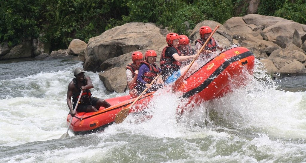 Raften op de Nijl in Uganda