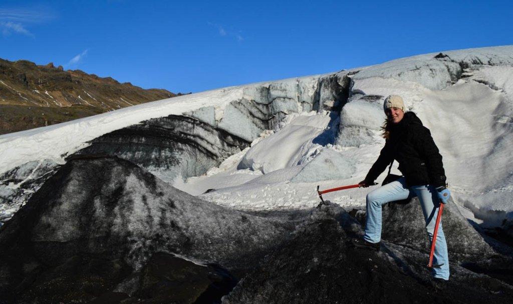 Gletsjer hike in IJsland