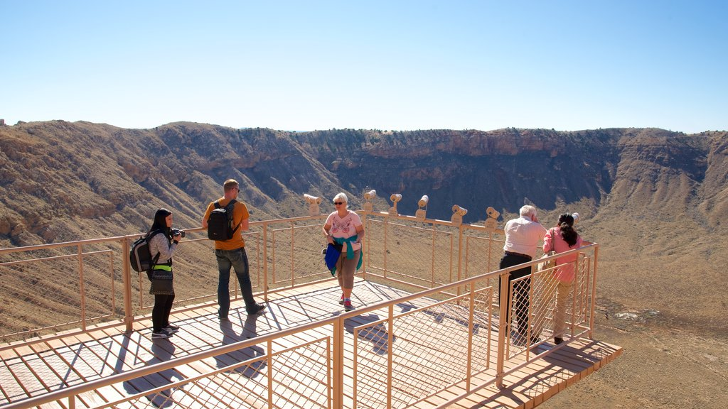 Meteor Crater which includes tranquil scenes, views and desert views