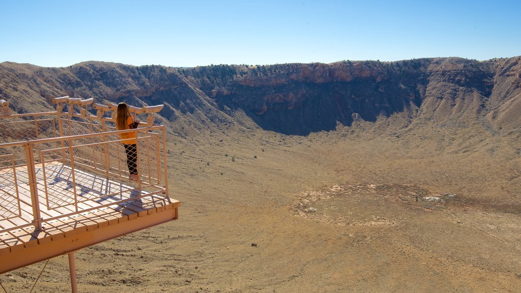 Meteor Crater featuring tranquil scenes, views and desert views