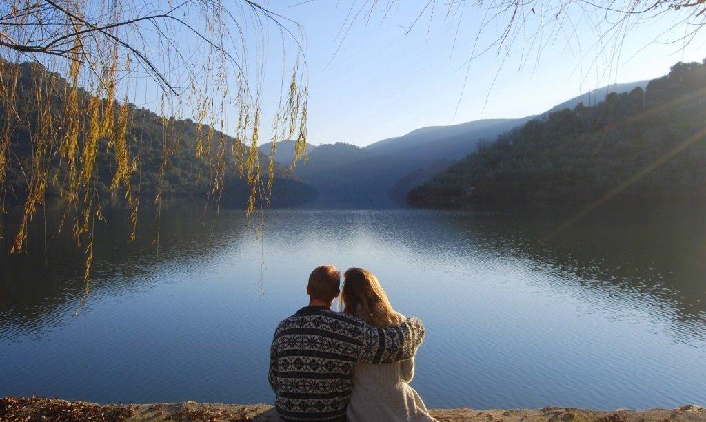 Aan de Douro-rivier in Mazouco, op de grens van Portugal & Spanje