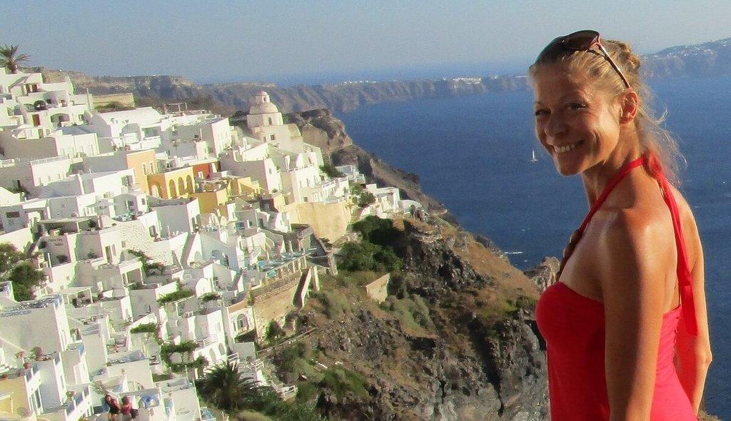 Reisblogger Denise Miltenburg op Santorini