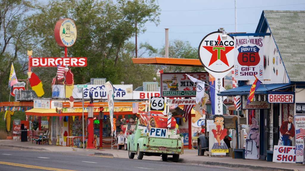 Seligman showing signage and street scenes