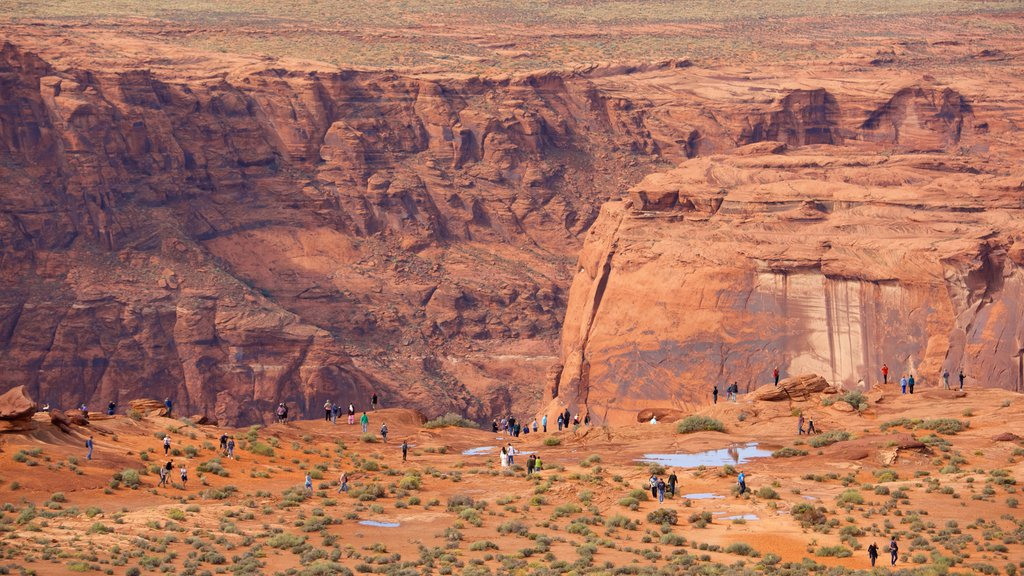 Horseshoe Bend which includes desert views and landscape views