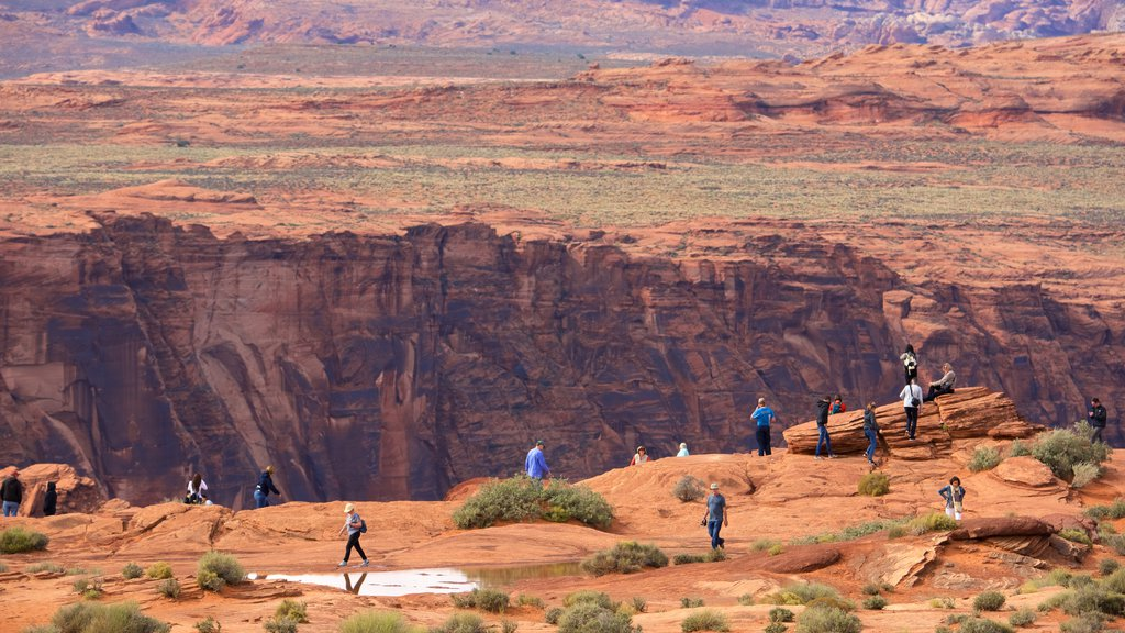 Horseshoe Bend featuring desert views and landscape views