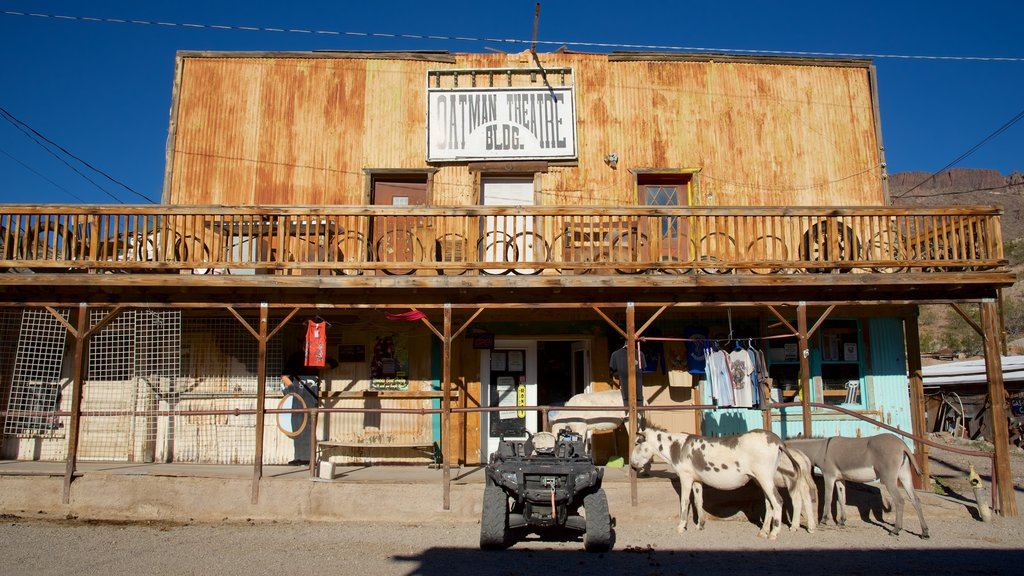 Oatman which includes land animals and street scenes