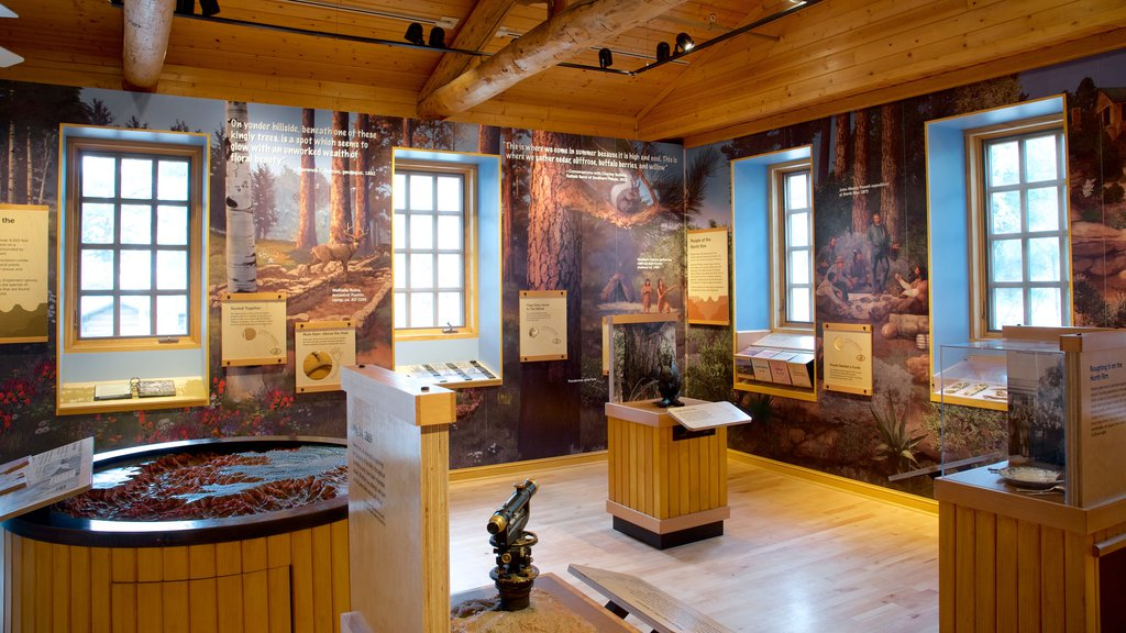 Grand Canyon North Rim Visitor Center which includes interior views