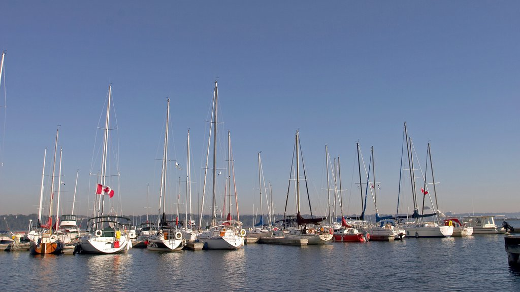 Hamilton which includes sailing, boating and general coastal views
