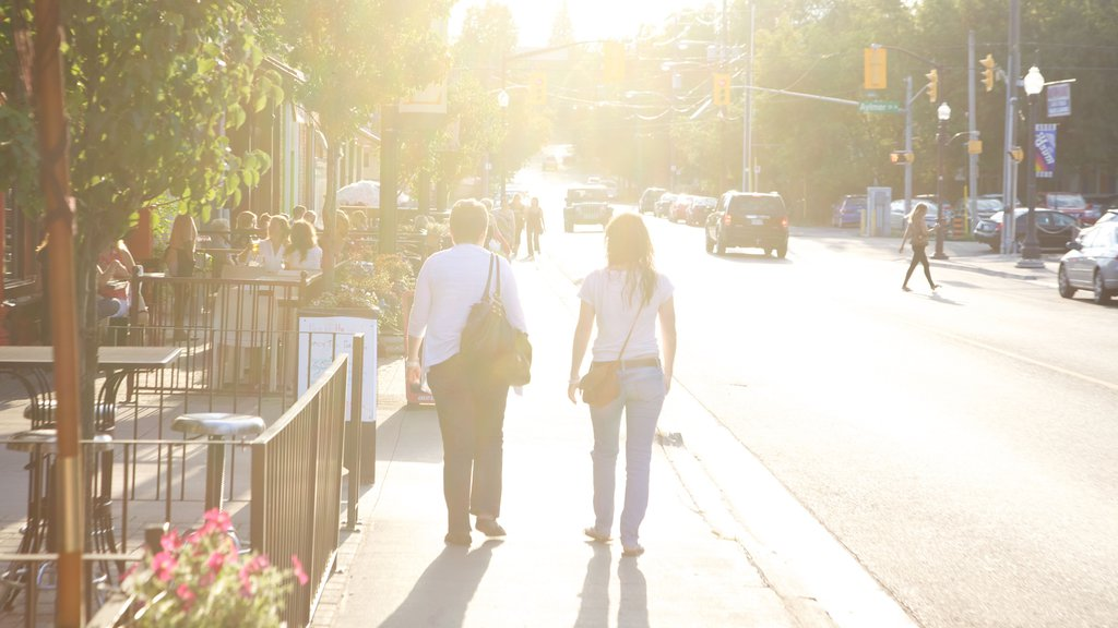 Peterborough showing street scenes