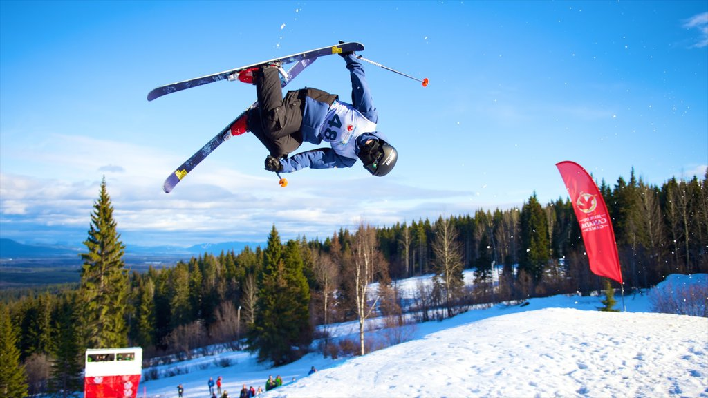 Prince George which includes a sporting event, snow and snow skiing