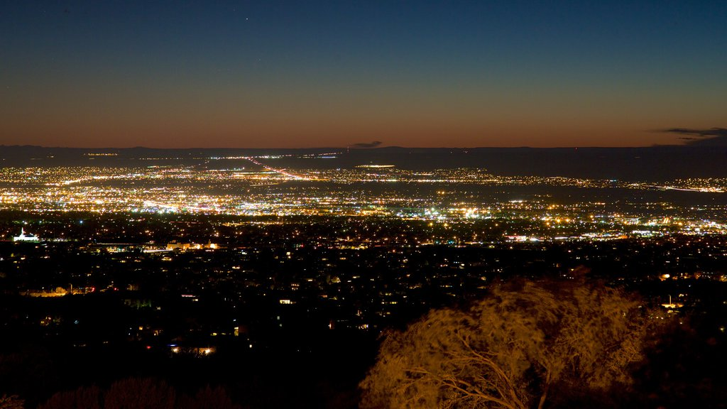 Albuquerque which includes a sunset and a city