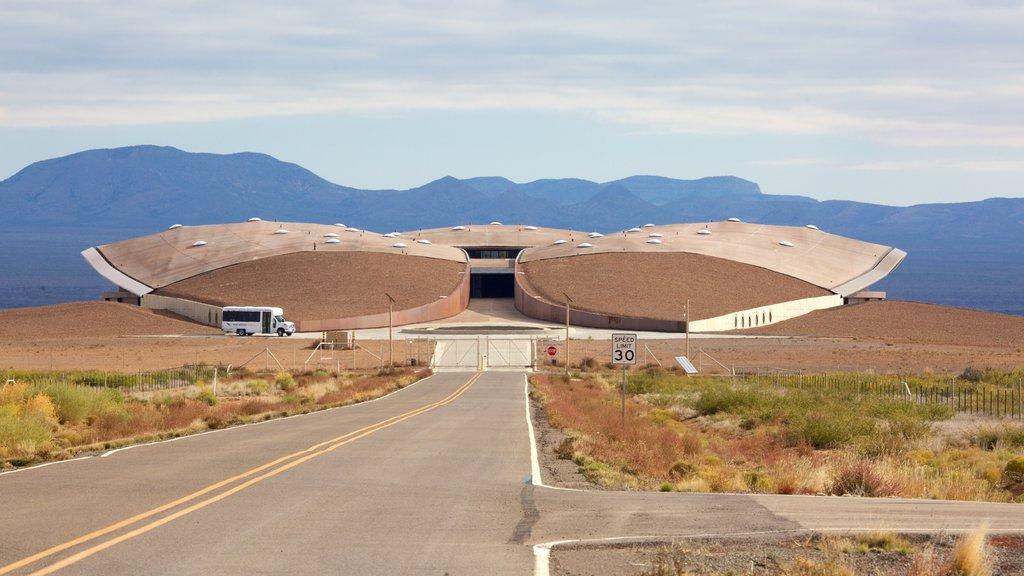 Spaceport America featuring modern architecture