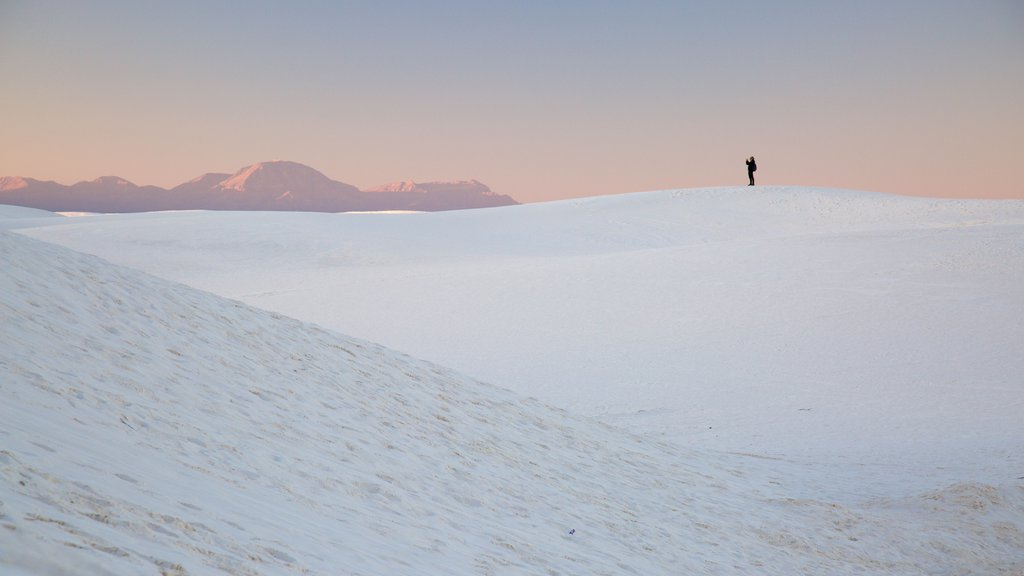 White Sands National Monument which includes a beach