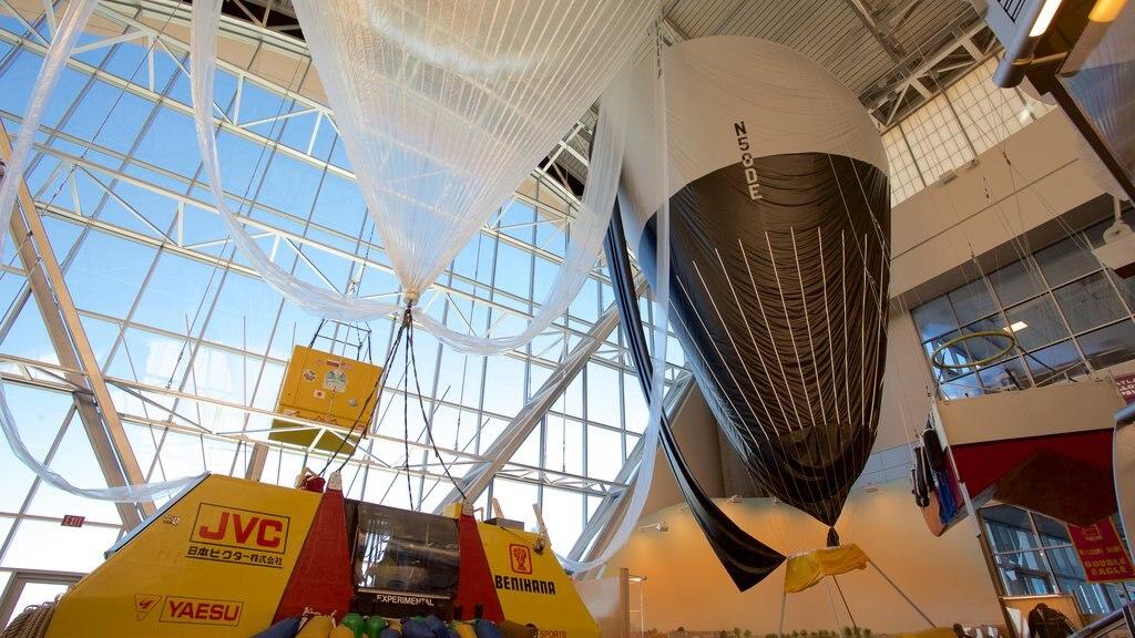 Anderson-Abruzzo Albuquerque International Balloon Museum featuring interior views