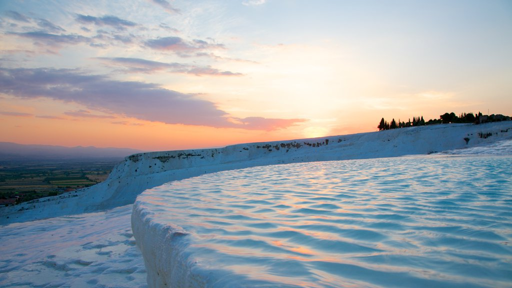 Turkey featuring snow and a sunset