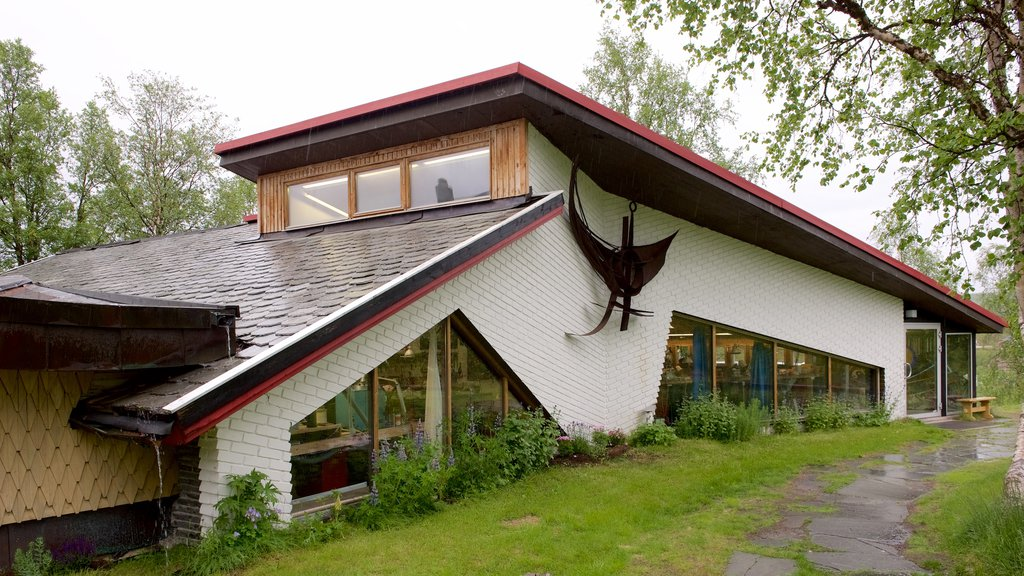 Juhl\'s Silver Gallery which includes modern architecture and a house