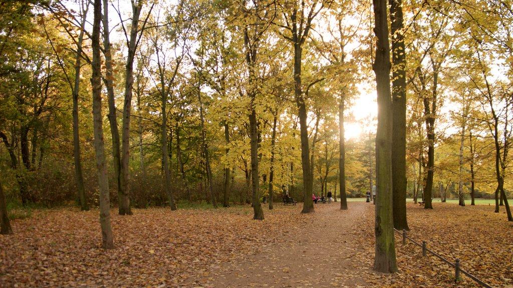 Tiergarten Soviet War Memorial which includes a garden and fall colors