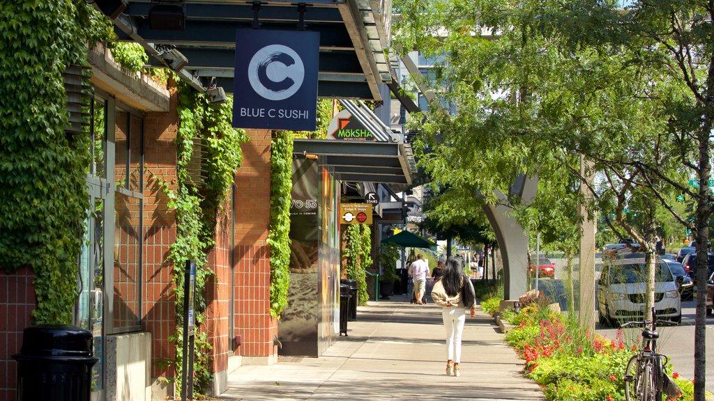 Bellevue featuring street scenes