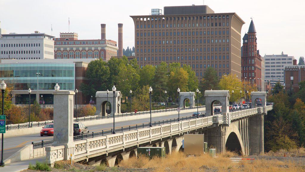 Spokane which includes a bridge and a city