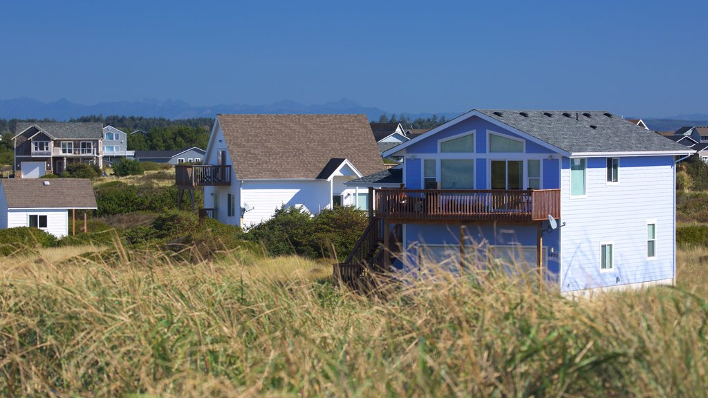 Ocean Shores showing tranquil scenes and a house