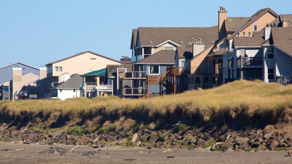Ocean Shores Beach featuring a beach and a house