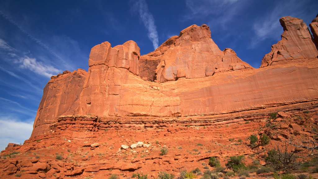 Moab featuring desert views, a gorge or canyon and tranquil scenes