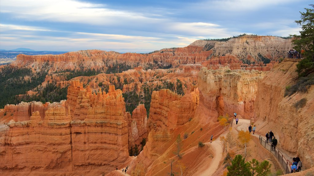 Bryce Canyon National Park which includes landscape views, a gorge or canyon and tranquil scenes