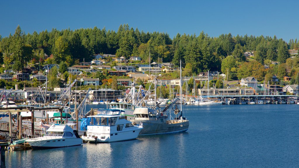 Gig Harbor featuring forests, a coastal town and a marina