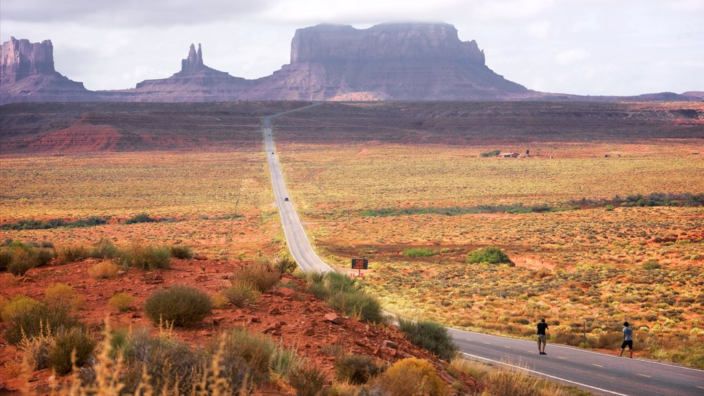 Monument Valley featuring a gorge or canyon, desert views and tranquil scenes