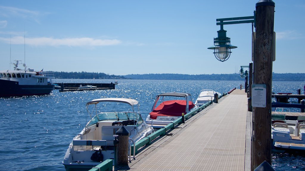 Marina Park showing a marina and a bay or harbor